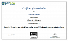 Сертификат инженера Palo Alto Networks Accredited Systems Engineer (PSE): Foundation Accreditation
