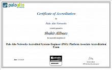 Сертификат инженера Palo Alto Networks Accredited Systems Engineer (PSE): Platform Associate Accreditation